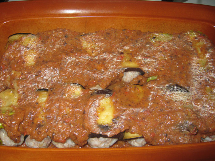 Баклажаны с фаршем и рисом рецепт