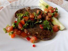 Говяжий стейк с томатной сальсой