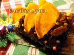 Шоколадно-апельсиновый кекс с орехами
