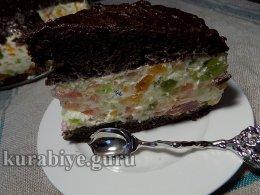 Пляцок Мозаика, торт-желе