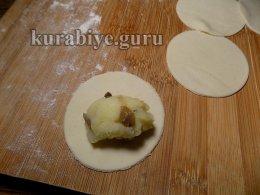 Постные вареники с картофелем и грибами