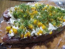 Рулеты из сельди с плавленым сыром