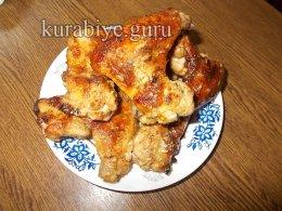 Крылышки в медово-горчичном соусе в духовке