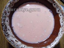 Шоколадный пляцок с клубникой