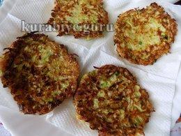 Оладьи из кабачков с сыром