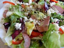 Салат с ветчиной и фетой