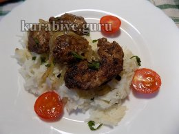 Куриная печень с рисом