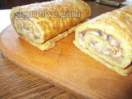 Закусочный рулет из кабачков