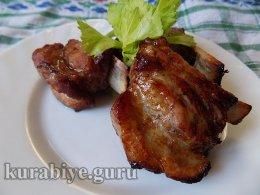 Свиные рёбрышки в ананасово-имбирном маринаде