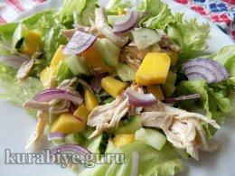 Салат з курятини з манго по-азійськи