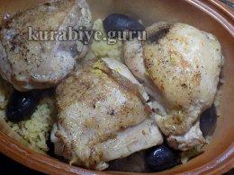 Курица с булгуром по-гречески