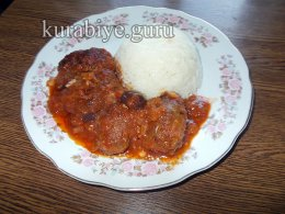 Судзукакья - тефтели в томатном соусе на сковороде