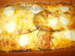 Баклажанная запеканка с сыром