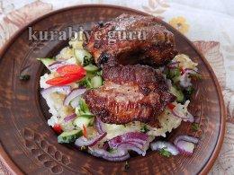Свинина в остро-сладком соусе с рисом