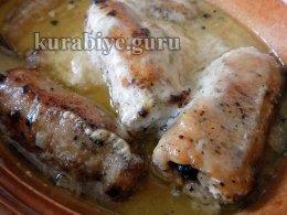 Рулетики из свинины с грибами и сыром в духовке