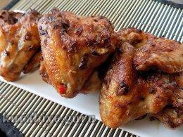 Чесночные крылышки с острым перцем