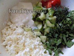 Мизерия — салат из свежих овощей с творогом