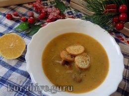 Чечевичный суп с копчёными рёбрышками