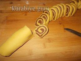 Лимонно-шоколадное печенье Спиральки