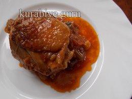 Тушеная курица в карамельном соусе