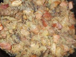 Рисовая каша с мясным ассорти