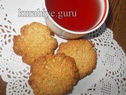Кокосово-овсяное печенье без муки