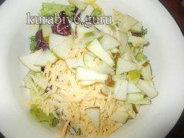 Куриная отбивная с яблочным салатом