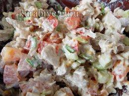 Куриный салат для начинки