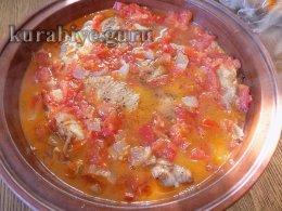 Котопуло коккинисто – курица в томатном соусе в духовке