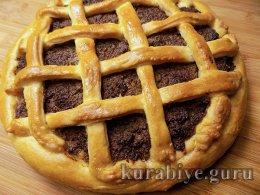 Открытый пирог с печёночным паштетом