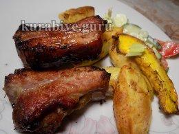 Свиные ребрышки барбекю в духовке