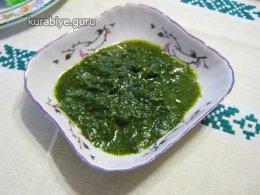 Зелёный соус, песто