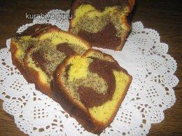 Нежный пирог с маком и какао