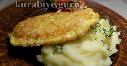 Картофельное пюре с плавленым сыром