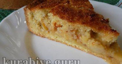 Яблочный пирог с кокосовым кремом