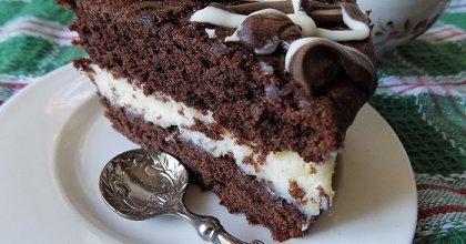 Супер влажный шоколадный торт с кремом из маскарпоне