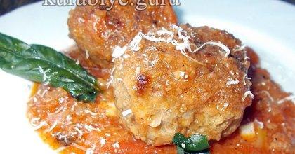 Тефтели по-итальянски в томатном соусе