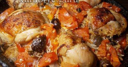 Цыплёнок с рисом по-итальянски