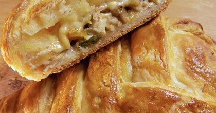 Закрытый пирог с курицей и грибами