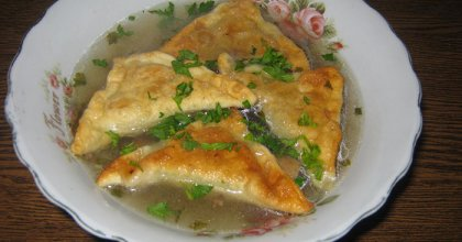 """Грибной суп с """"ушками"""", рецепт"""