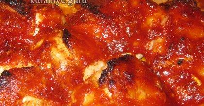 Острая курица в абрикосово-имбирном соусе