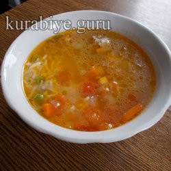 Суп с фрикадельками и рисом по-колумбийски