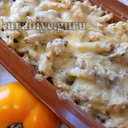 Картофель с печенью, запеченные в духовке