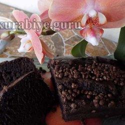 Шоколадно-банановый пирог с шоколадными каплями