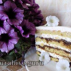 Швейцарский торт с кремом из сливочного сыра