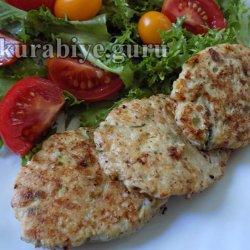 Куриные оладьи с кабачком