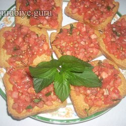 Овощные кростини с помидорами