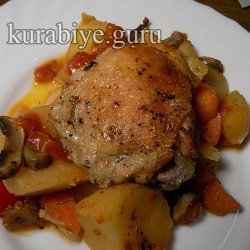 Курица каччиаторе с картофелем