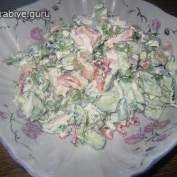 салат из куриной грудки простой и вкусный