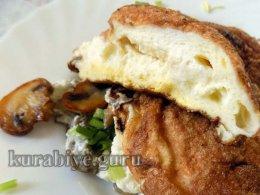 Омлет-суфле с грибами